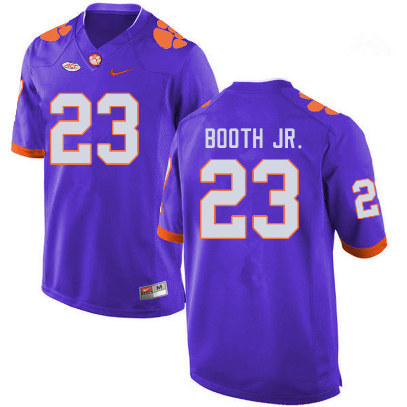 Men #23 Andrew Booth Jr. Clemson Tigers College Football Jerseys Sale-Purple