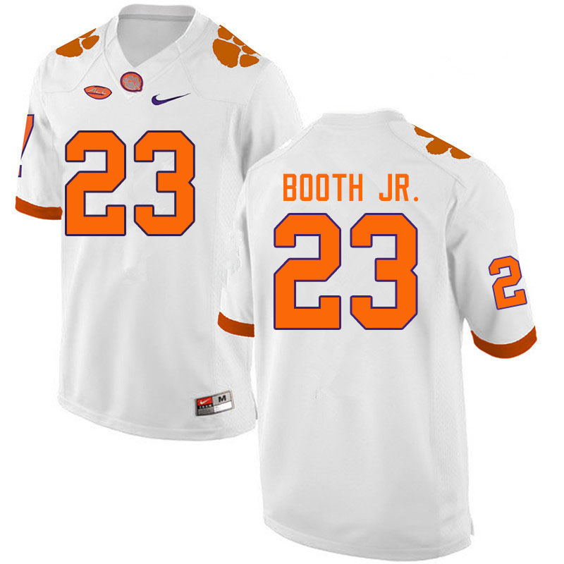 Men #23 Andrew Booth Jr. Clemson Tigers College Football Jerseys Sale-White