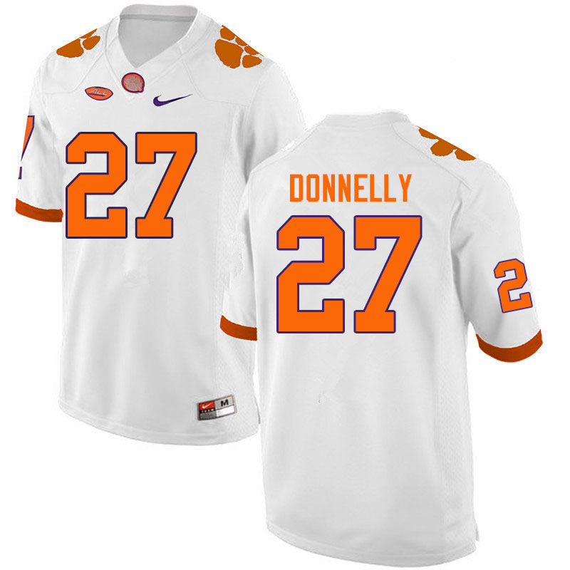 Men #27 Carson Donnelly Clemson Tigers College Football Jerseys Sale-White