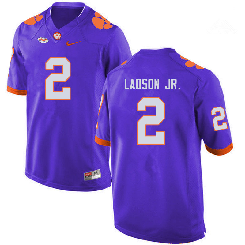 Men #2 Frank Ladson Jr. Clemson Tigers College Football Jerseys Sale-Purple