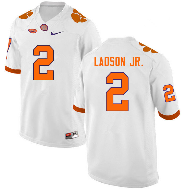 Men #2 Frank Ladson Jr. Clemson Tigers College Football Jerseys Sale-White