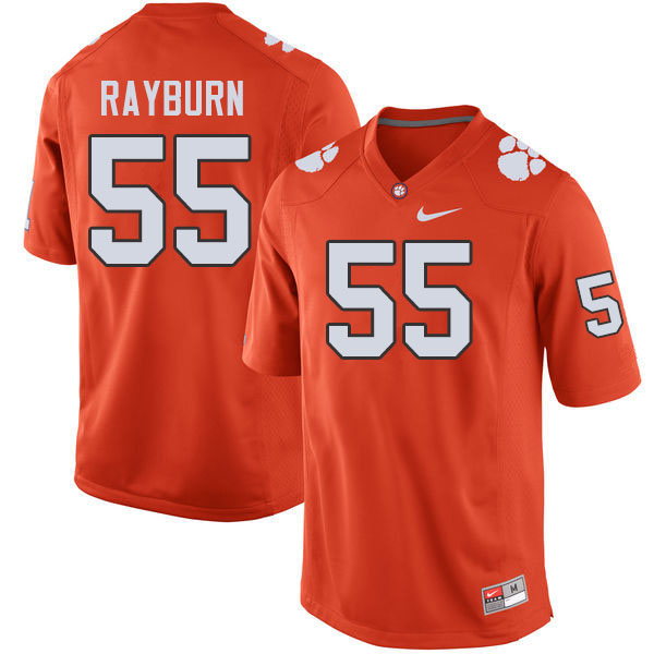 Men #55 Hunter Rayburn Clemson Tigers College Football Jerseys Sale-Orange