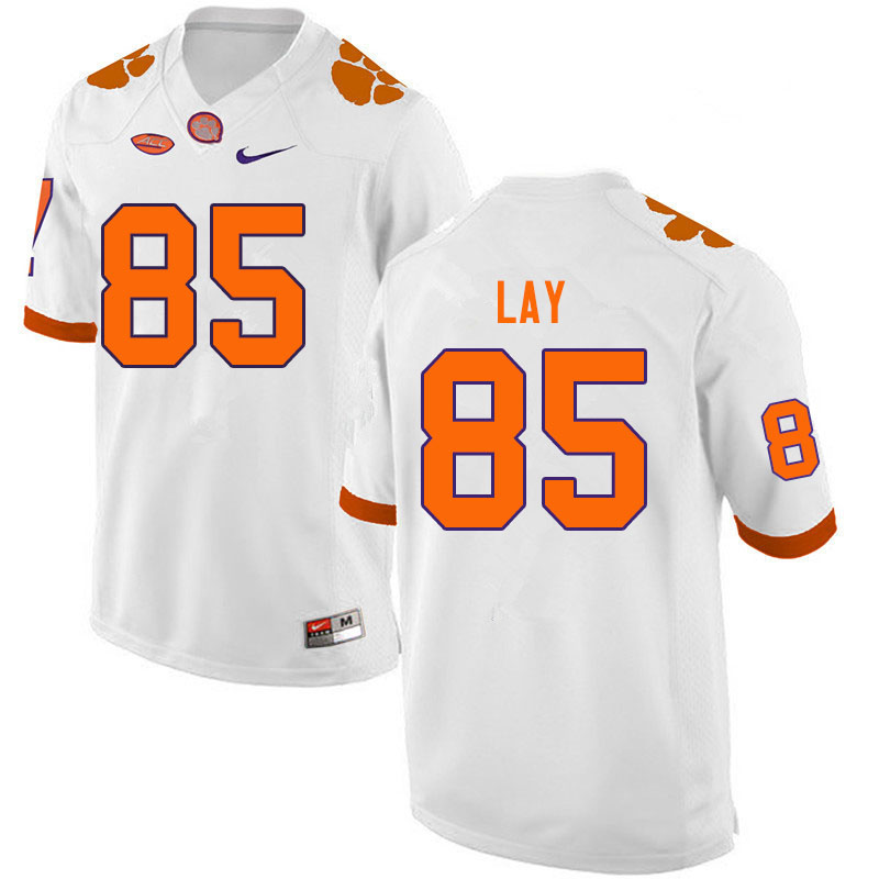 Men #85 Jaelyn Lay Clemson Tigers College Football Jerseys Sale-White