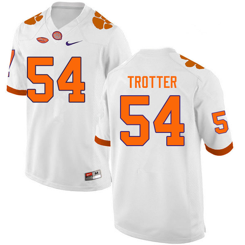 Men #54 Mason Trotter Clemson Tigers College Football Jerseys Sale-White
