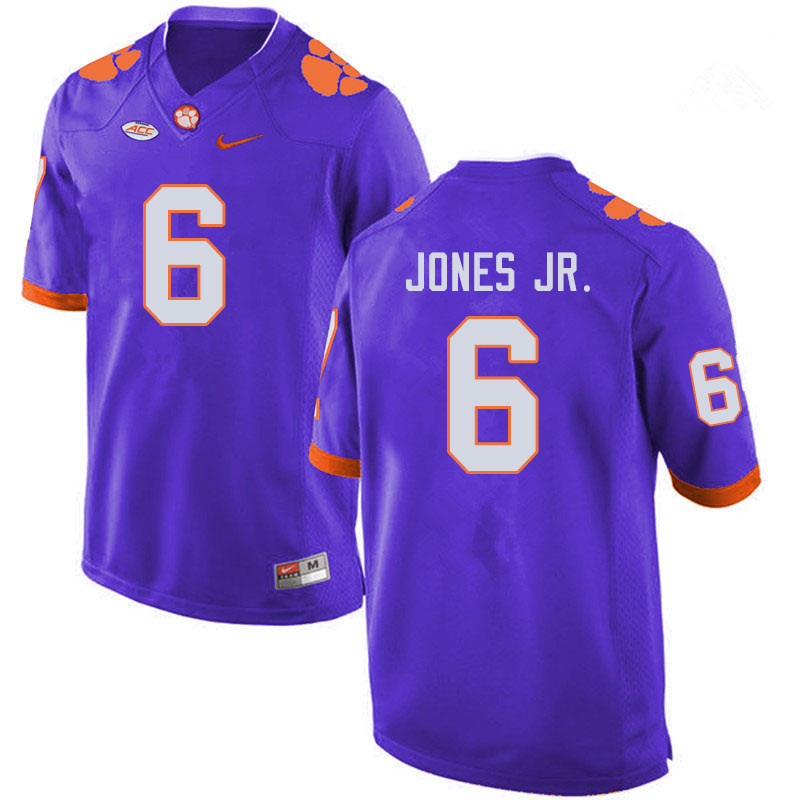 Men #6 Mike Jones Jr. Clemson Tigers College Football Jerseys Sale-Purple