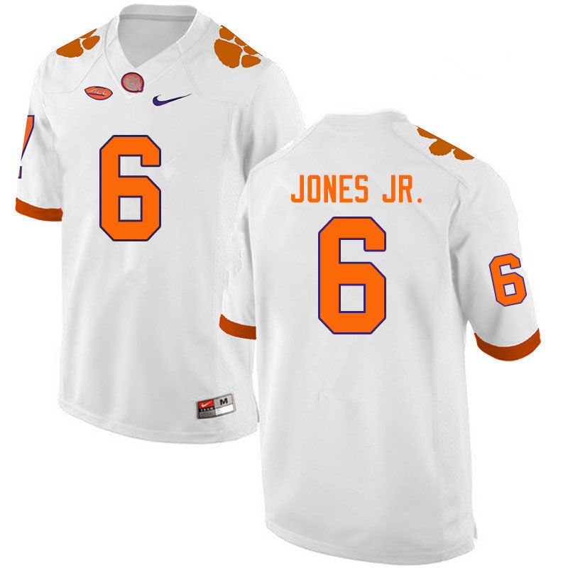 Men #6 Mike Jones Jr. Clemson Tigers College Football Jerseys Sale-White