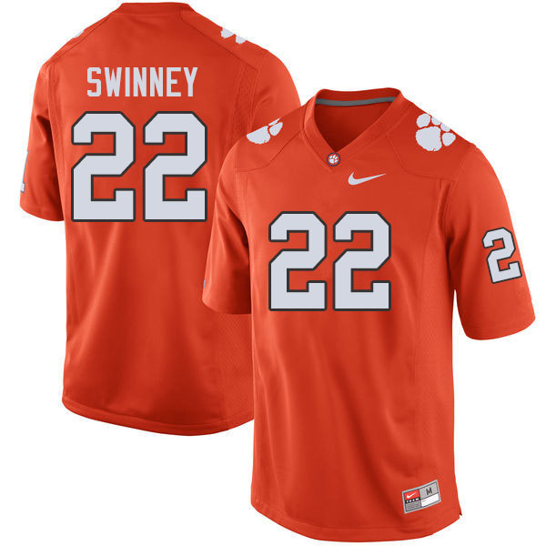 Men #22 Will Swinney Clemson Tigers College Football Jerseys Sale-Orange