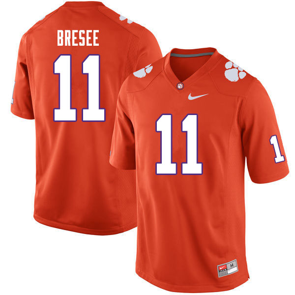 Men #11 Bryan Bresee Clemson Tigers College Football Jerseys Sale-Orange
