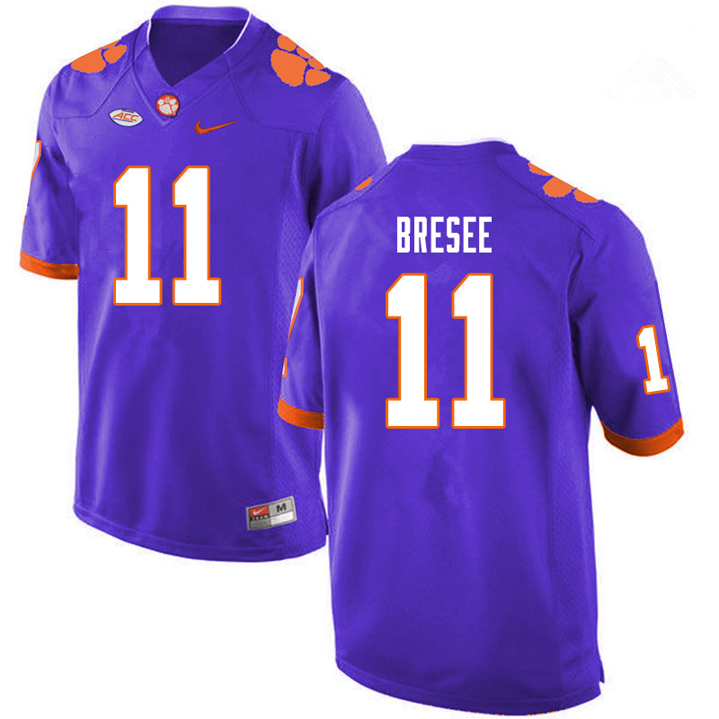 Men #11 Bryan Bresee Clemson Tigers College Football Jerseys Sale-Purple