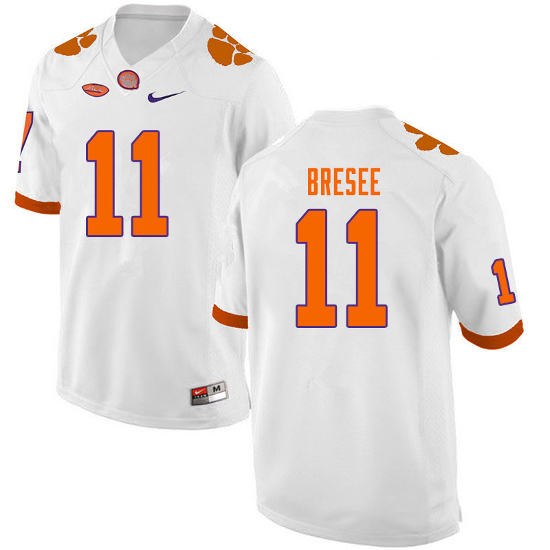 Men #11 Bryan Bresee Clemson Tigers College Football Jerseys Sale-White