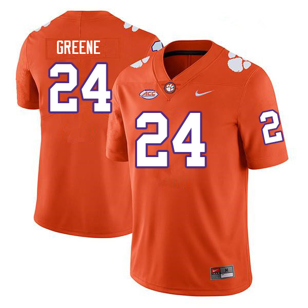 Men #24 Hamp Greene Clemson Tigers College Football Jerseys Sale-Orange