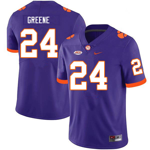 Men #24 Hamp Greene Clemson Tigers College Football Jerseys Sale-Purple