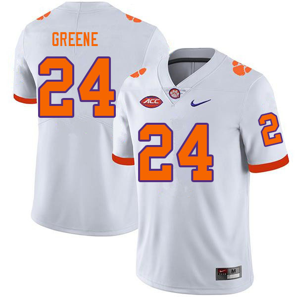 Men #24 Hamp Greene Clemson Tigers College Football Jerseys Sale-White