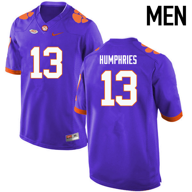 Men Clemson Tigers #13 Adam Humphries College Football Jerseys-Purple