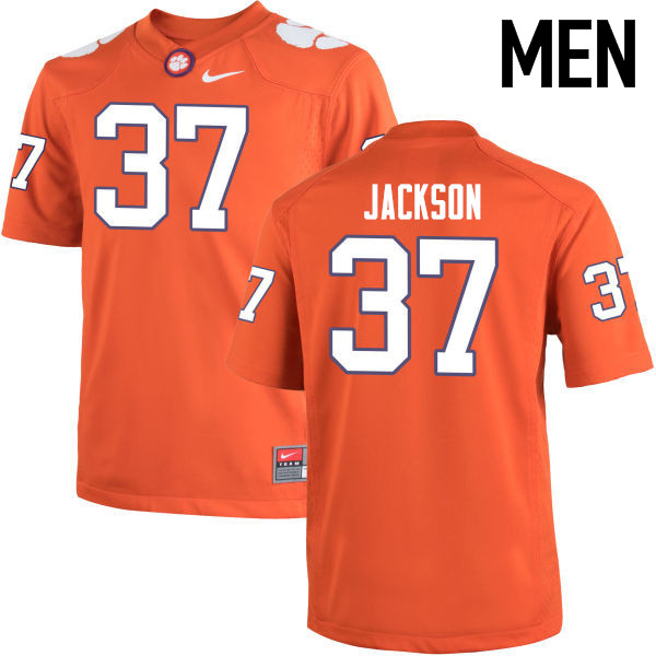 Men Clemson Tigers #37 Austin Jackson College Football Jerseys-Orange