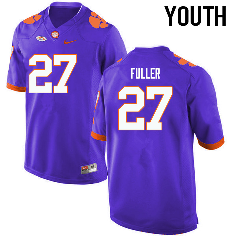 Youth Clemson Tigers #27 C.J. Fuller College Football Jerseys-Purple