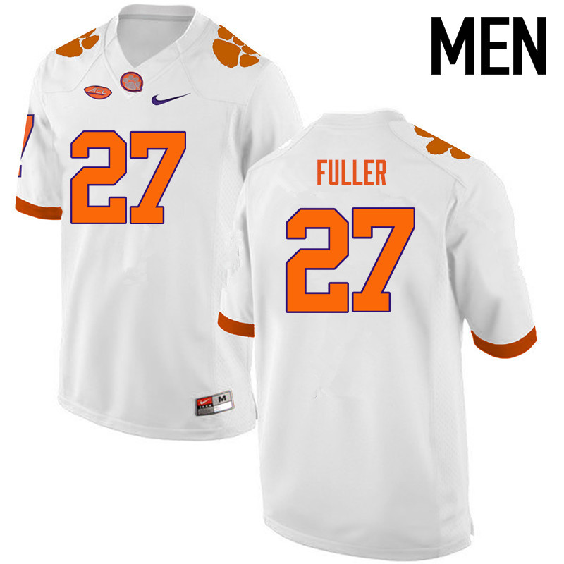 Men Clemson Tigers #27 C.J. Fuller College Football Jerseys-White
