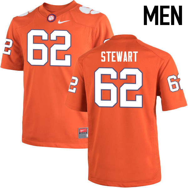 Men Clemson Tigers #62 Cade Stewart College Football Jerseys-Orange