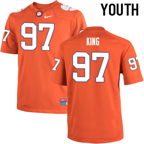 Youth Clemson Tigers #97 Carson King College Football Jerseys-Orange