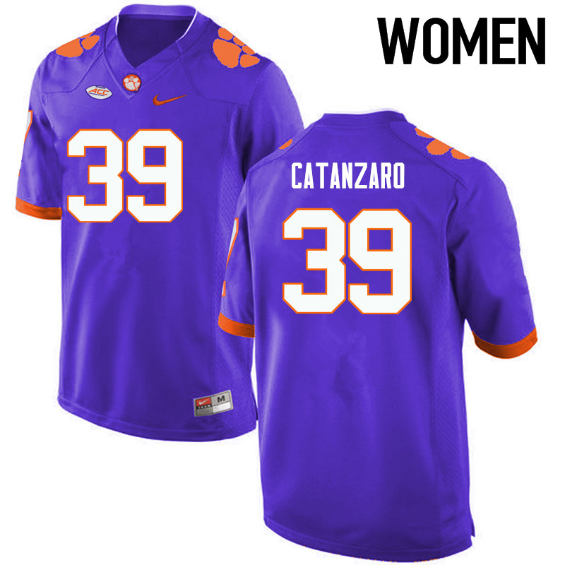Women Clemson Tigers #39 Chandler Catanzaro College Football Jerseys-Purple
