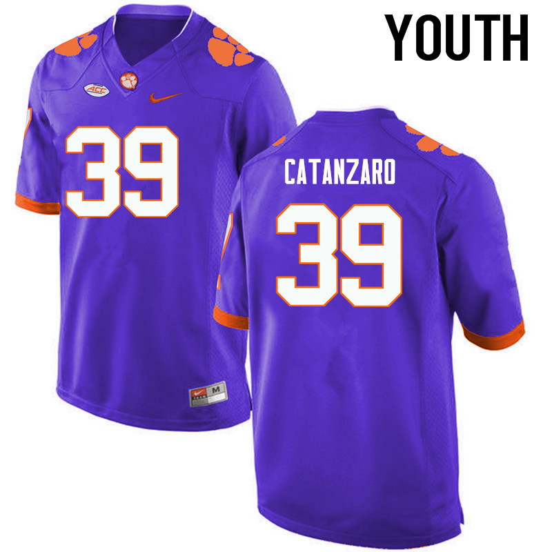 Youth Clemson Tigers #39 Chandler Catanzaro College Football Jerseys-Purple