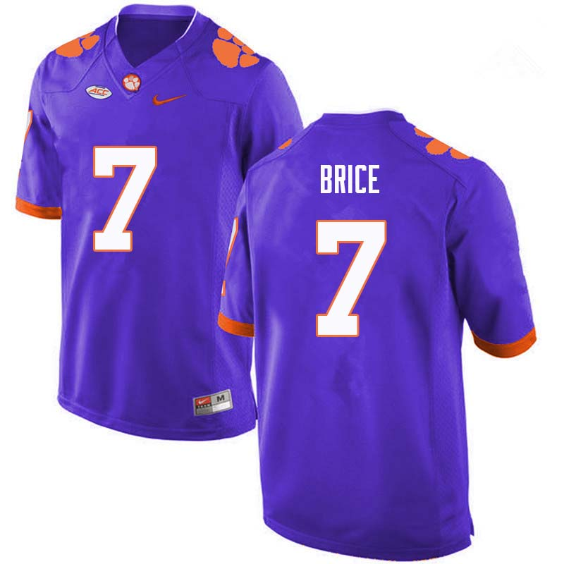 Men #7 Chase Brice Clemson Tigers College Football Jerseys Sale-Purple