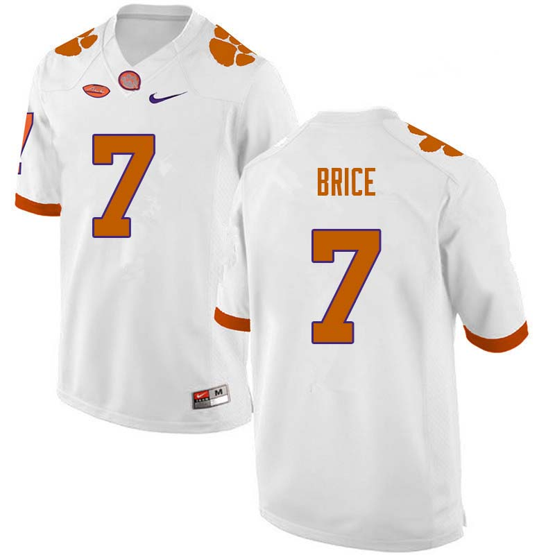 Men #7 Chase Brice Clemson Tigers College Football Jerseys Sale-White