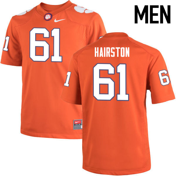 Men Clemson Tigers #61 Chris Hairston College Football Jerseys-Orange