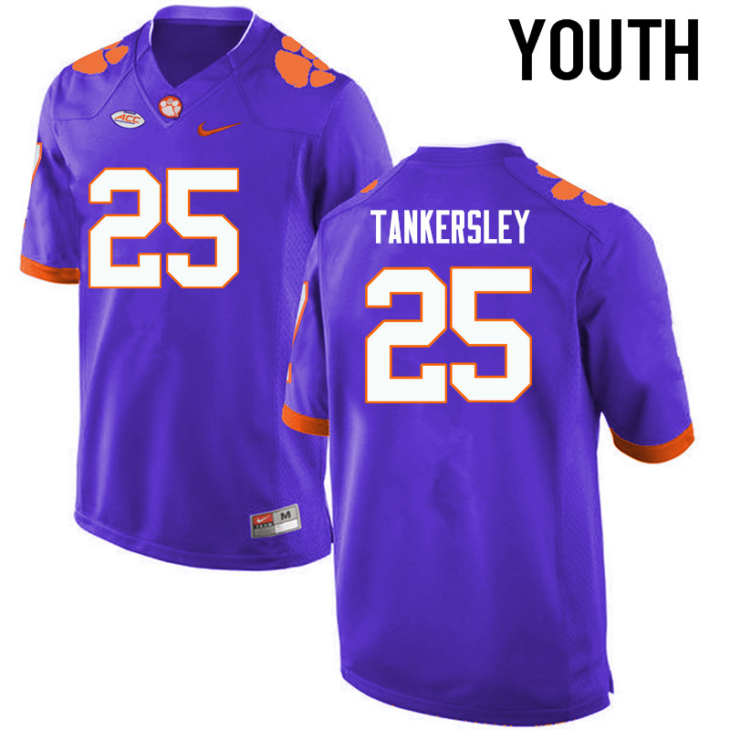 Youth Clemson Tigers #25 Cordrea Tankersley College Football Jerseys-Purple