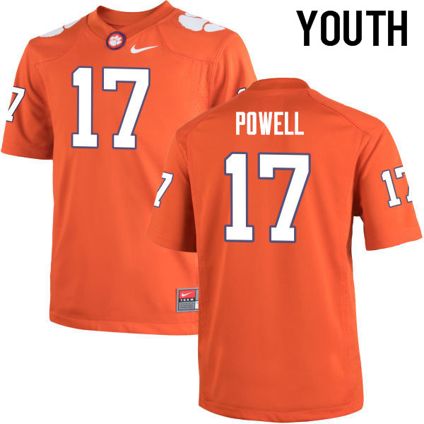 Youth Clemson Tigers #17 Cornell Powell College Football Jerseys-Orange