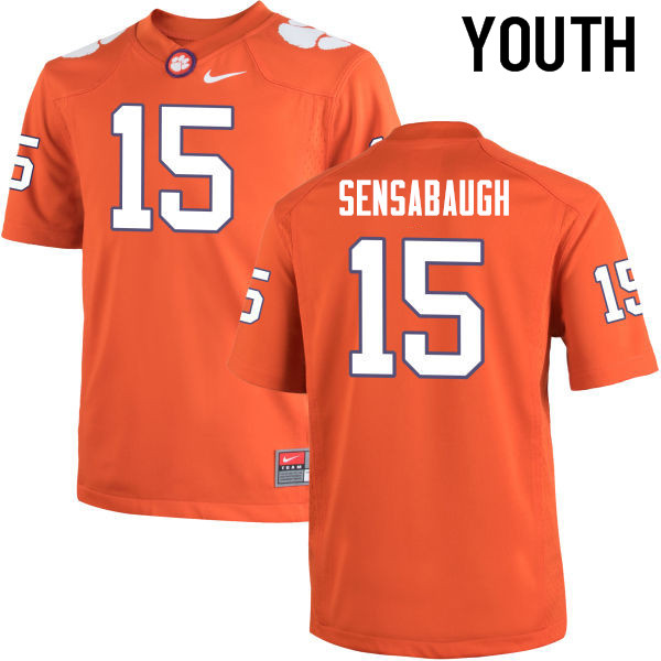 Youth Clemson Tigers #15 Coty Sensabaugh College Football Jerseys-Orange