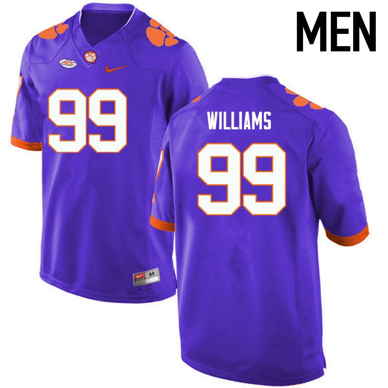 Men Clemson Tigers #99 DeShawn Williams College Football Jerseys-Purple
