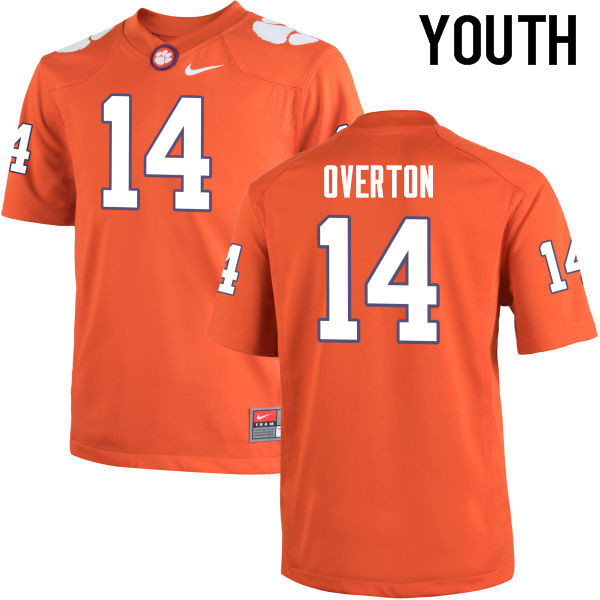 Youth Clemson Tigers #14 Diondre Overton College Football Jerseys-Orange