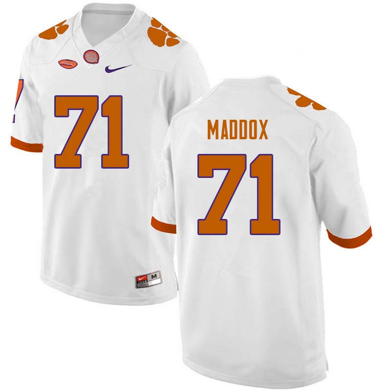 Men #71 Jack Maddox Clemson Tigers College Football Jerseys Sale-White