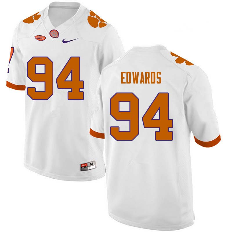 Men #94 Jacob Edwards Clemson Tigers College Football Jerseys Sale-White