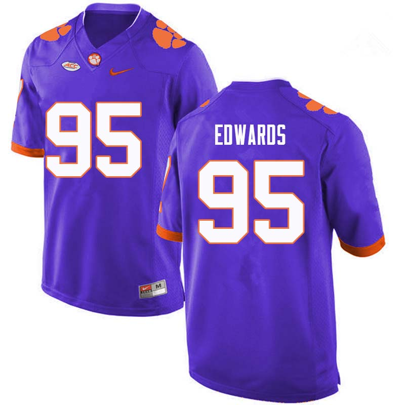 Men #95 James Edwards Clemson Tigers College Football Jerseys Sale-Purple