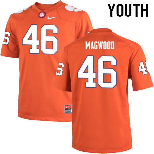 Youth Clemson Tigers #46 Jarvis Magwood College Football Jerseys-Orange