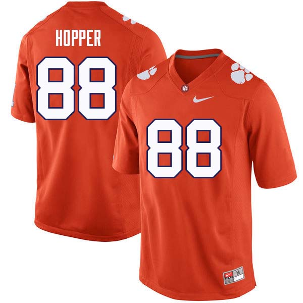 Men #88 Jayson Hopper Clemson Tigers College Football Jerseys Sale-Orange