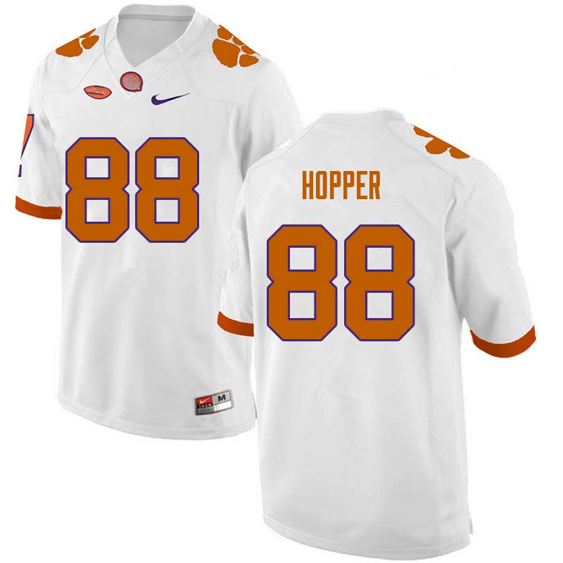 Men #88 Jayson Hopper Clemson Tigers College Football Jerseys Sale-White
