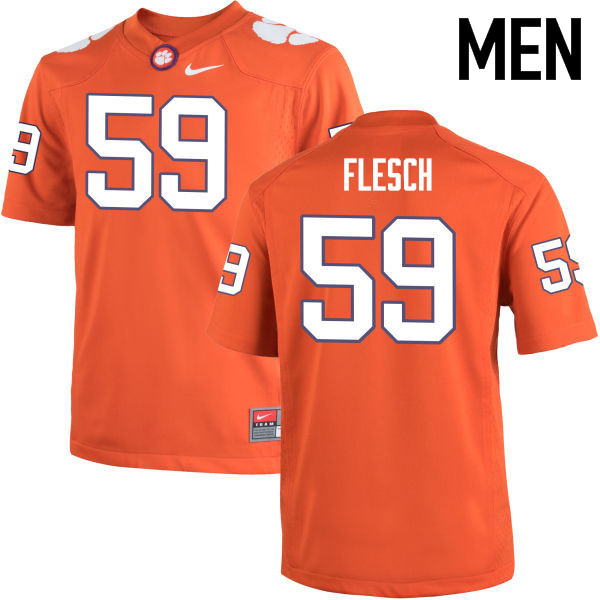 Men Clemson Tigers #59 Jeb Flesch College Football Jerseys-Orange