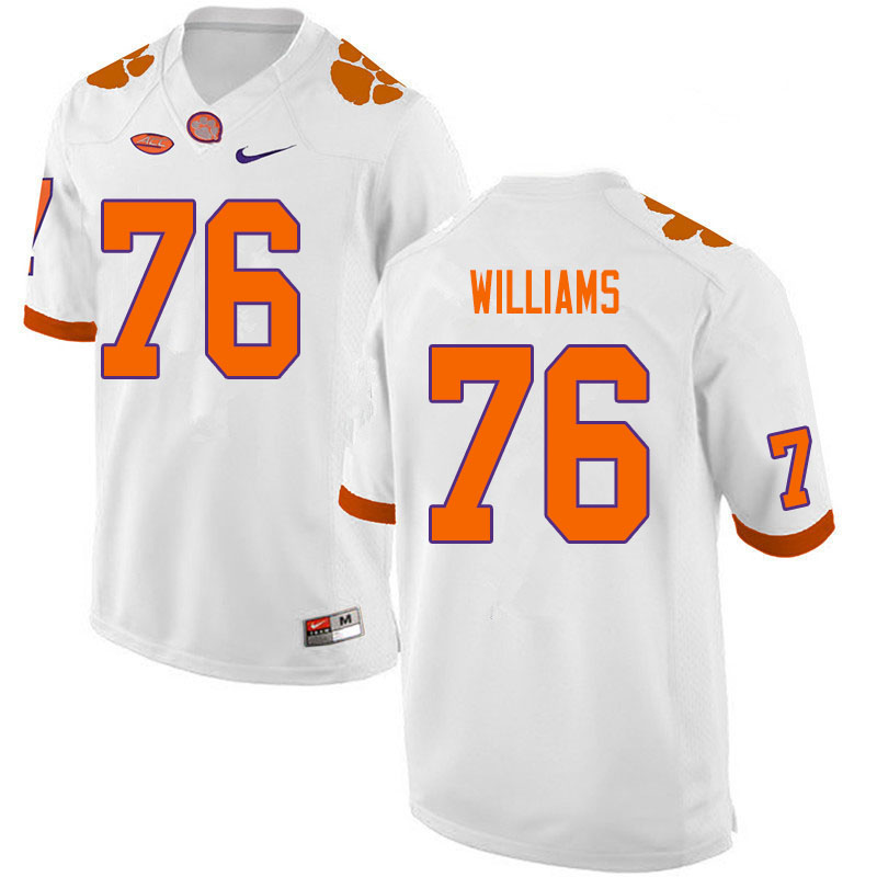 Men #76 John Williams Clemson Tigers College Football Jerseys Sale-White