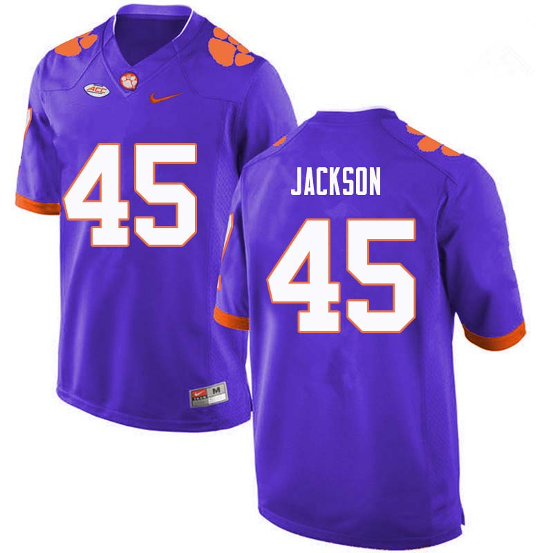 Men #45 Josh Jackson Clemson Tigers College Football Jerseys Sale-Purple