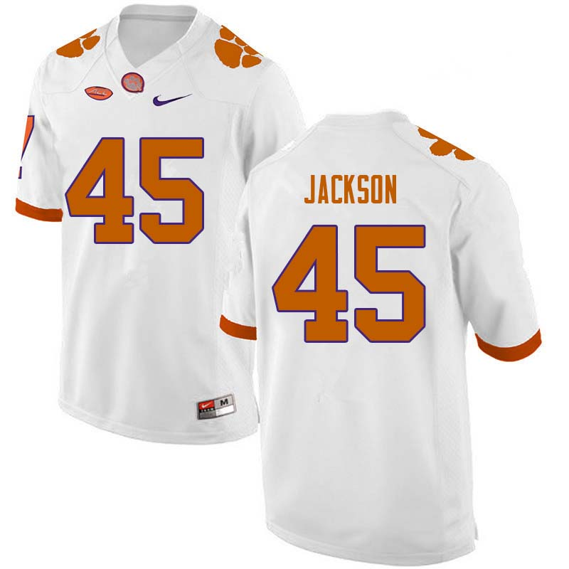 Men #45 Josh Jackson Clemson Tigers College Football Jerseys Sale-White
