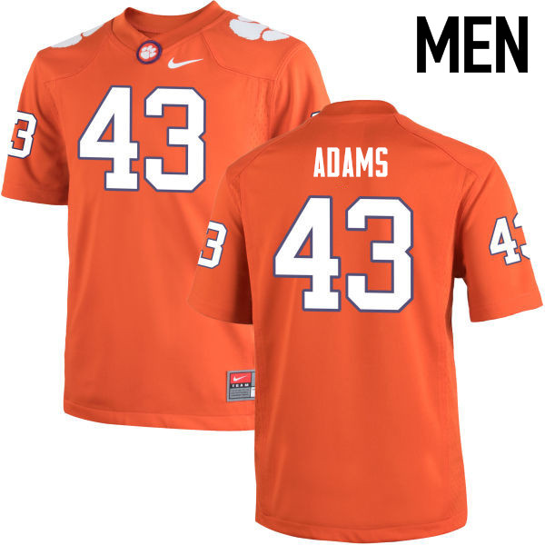 Men Clemson Tigers #43 Keith Adams College Football Jerseys-Orange