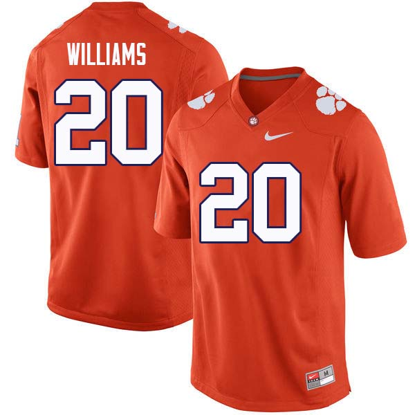 Men #20 LeAnthony Williams Clemson Tigers College Football Jerseys Sale-Orange