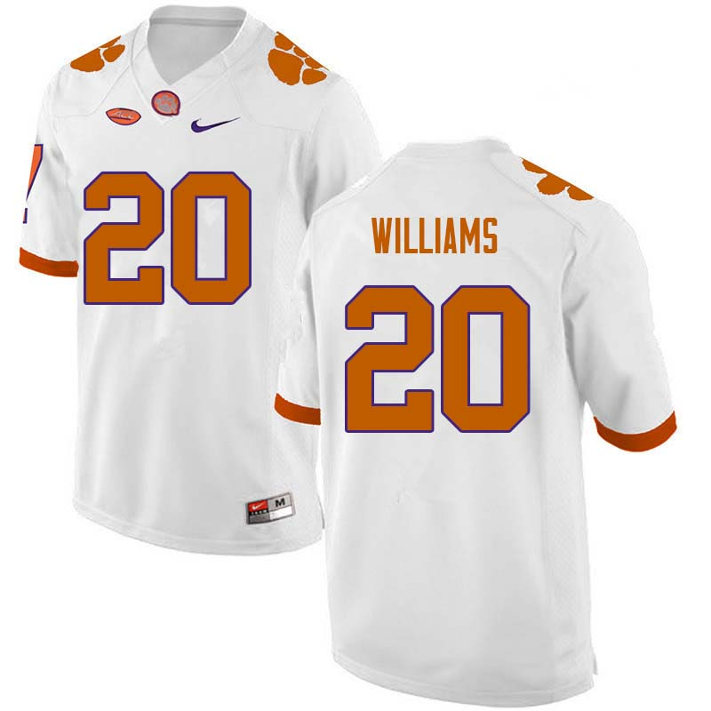 Men #20 LeAnthony Williams Clemson Tigers College Football Jerseys Sale-White