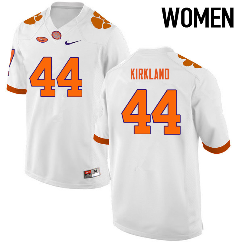 Women Clemson Tigers #44 Levon Kirkland College Football Jerseys-White