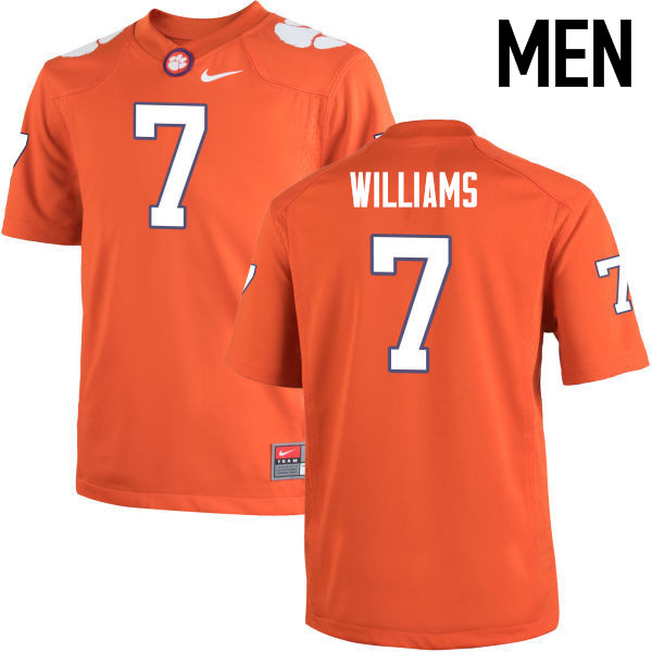 Men Clemson Tigers #7 Mike Williams College Football Jerseys-Orange
