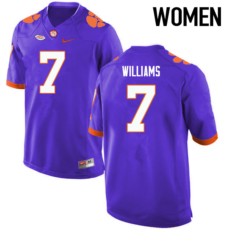 Women Clemson Tigers #7 Mike Williams College Football Jerseys-Purple