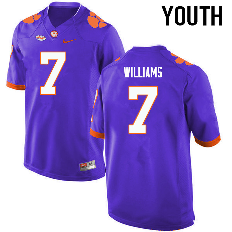 Youth Clemson Tigers #7 Mike Williams College Football Jerseys-Purple